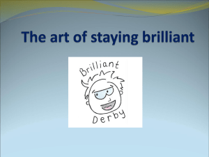 The art of staying brilliant