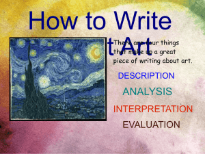Powerpoint - How to Write About Art.