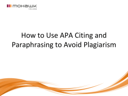 APA+Citing+and+Paraphrasing