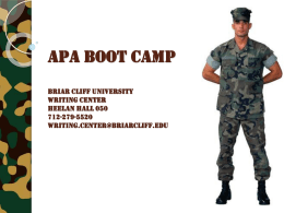 APA BooT Camp - BCU Writing Center