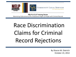 "Title VII requires that criminal record policies ""accurately distinguish"