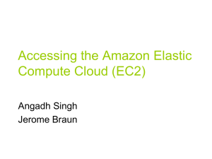 Accessing the Amazon Cloud