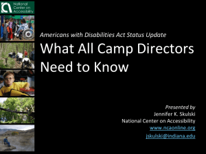 PowerPoint from January 26, 2011 Webinar, ADA Status Update