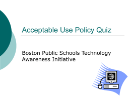 Acceptable Use Policy Quiz