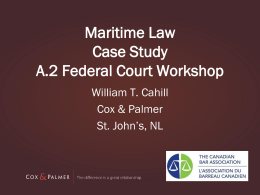 Maritime Law Case Stud