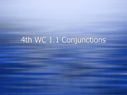 WC 1.1 Conjunctions (Flipchart)