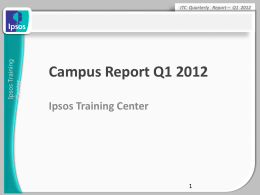 Q1 Report - Ipsos Training Center