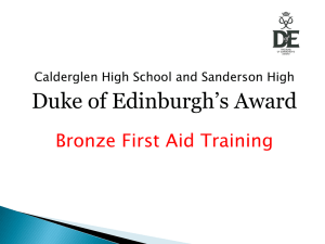 First Aid Training : Bronze [Power Point]