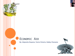 11 Aid and the Economy