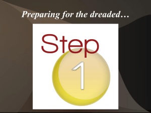 Step 1 Study Tips  - Joan C. Edwards School of Medicine