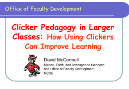 Presentation Slides - NCSU Office of Faculty Development