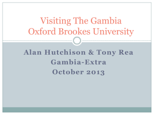 Oxford Brookes Oct 2013 presentation Gambia