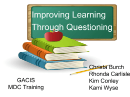 Improving Learning Through Questioning FINAL with VIDEO Links