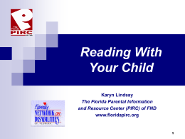 """Reading With Your Child"" - English"