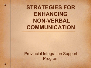 strategies for enhancing non-verbal communication