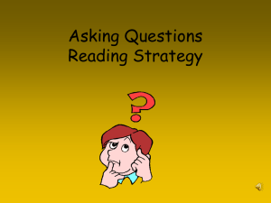Asking Questions Reading Strategy