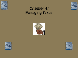 Step 2: Computing Taxable Income