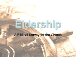 Eldership - Christ the Redeemer Church