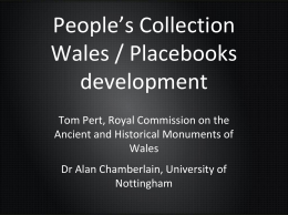 People`s Collection Wales/Placebooks development