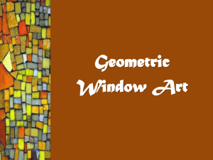 Geometric Window Art