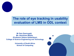 The role of Eye tracking in usability evaluation of Learning