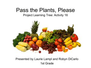 Pass the Plants, Please PowerPoint
