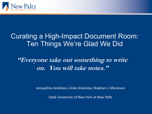 Curating a High-Impact Document Room