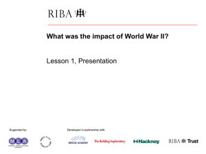 What was the impact of World War II? PowerPoint presentation 1
