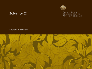 Solvency II - Central Bank of Ireland
