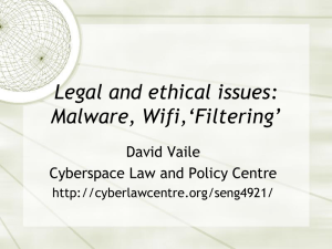 Malware filter WiFi - Cyberspace Law and Policy Centre