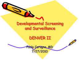 Denver Developmental Screening Test 7/27/10