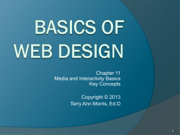 Basics of Web Design: Chapter 10