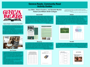Geneva Reads Community Read Guides