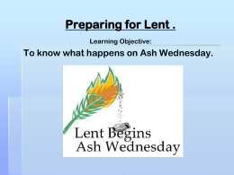 Ash Wednesday PowerPoint