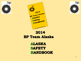 2014 BP ASH Training slidepack (Optional)
