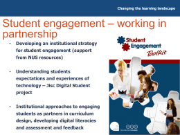 Student engagement in TEL and examples of TEL projects from