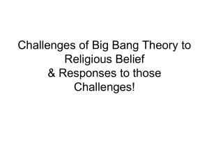Challenges of Big Bang Theory