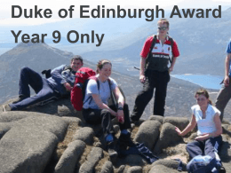 Introduction to the DofE