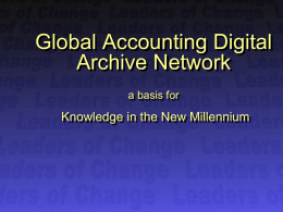 Global Acc Digitial Archive Network