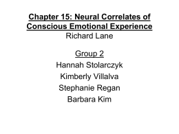 Chapter 15: Neural Correlates of Conscious Emotional Experience