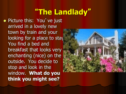 The Landlady - Montgomery County Schools