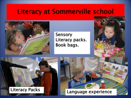 Sensory Literacy packs