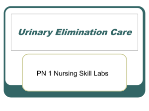 PN1lab notes\Urinary Elimination Care
