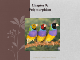 Polymorphism and Collections