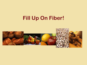 Add Fiber to Your Diet!