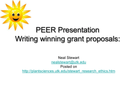 Writing Winning Grant Proposals