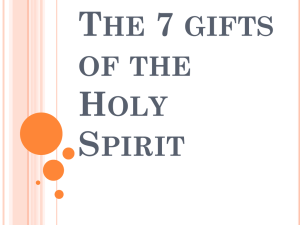 The 7 gifts of the Holy Spirit