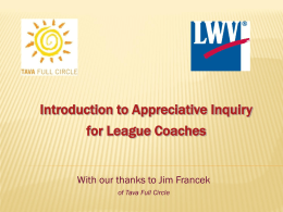Appreciative Inquiry - League of Women Voters