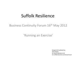 Running an Exercise - Suffolk Resilience