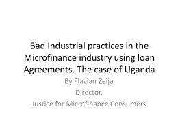 Bad Industrial practices of MFI in Ugands - e-MFP